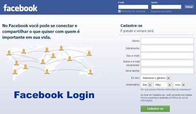Entrar Facebook - Login Facebook